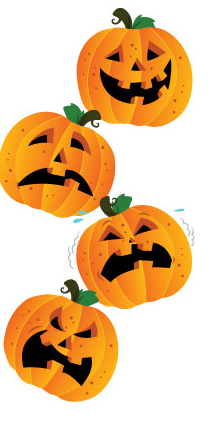 Jack-o'-lanterns are perfect for helping kids learning parts of the face and emotions.