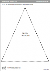 Shapes Christmas Tree template page 1