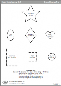Shapes Christmas Tree template page 2
