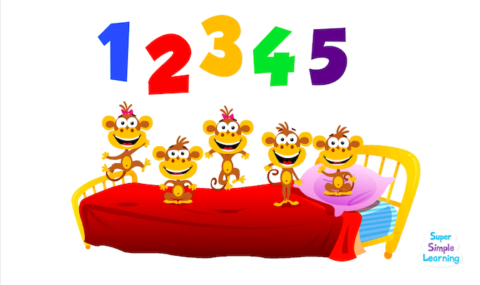 Five Little Monkeys from Super Simple Learning