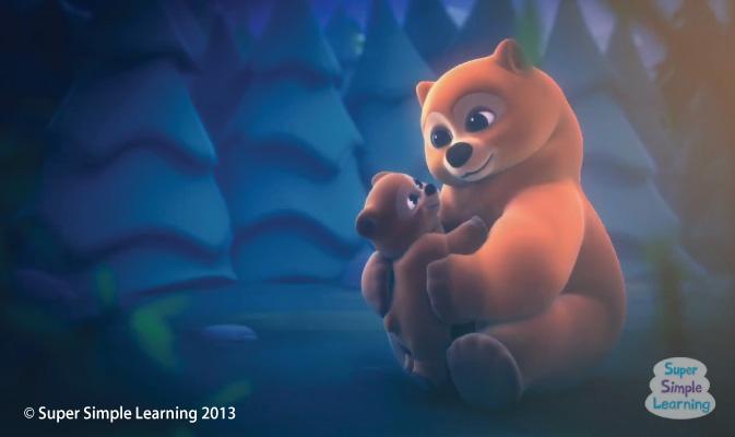 Mama Bear hugging Baby Bear