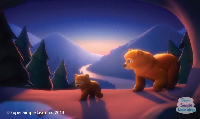 Mama Bear and Baby Bear coming home