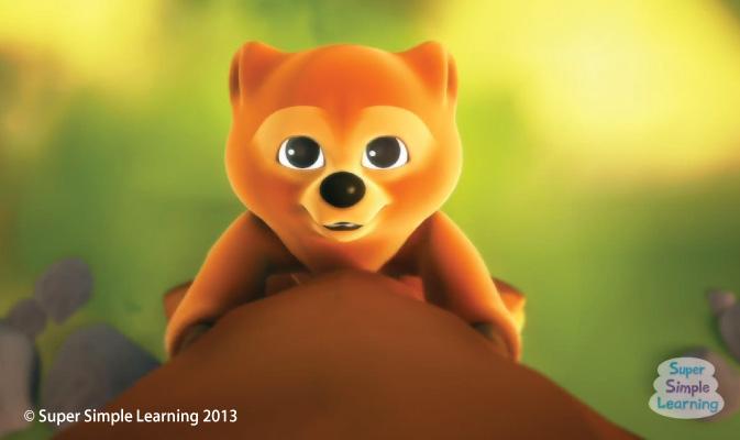 Baby Bear climbing a tree