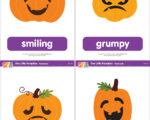 Five Little Pumpkins Flashcards