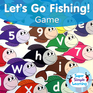 Use these colorful fish to practice letters, numbers, and colors.
