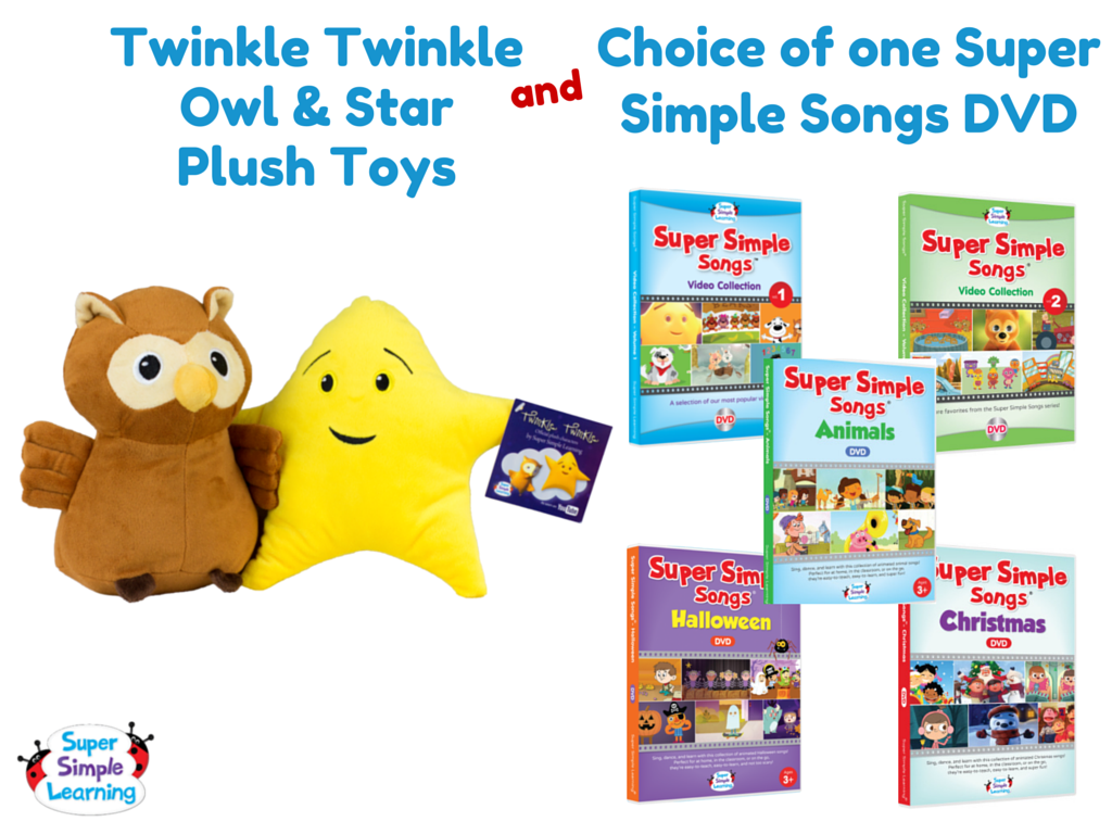 celebrate mom giveaway prizes twinkle twinkle plush toys and choice of dvd