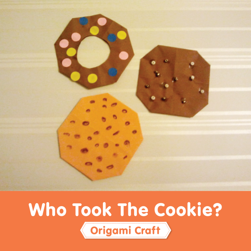 Who Took The Cookie? Origami craft for kids