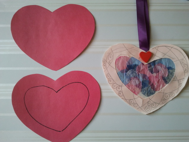 Step 1 Stained Glass Heart