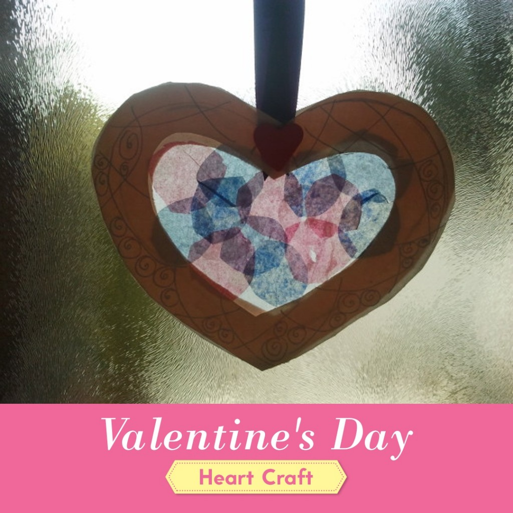 Stained Glass Valentine's Day Craft