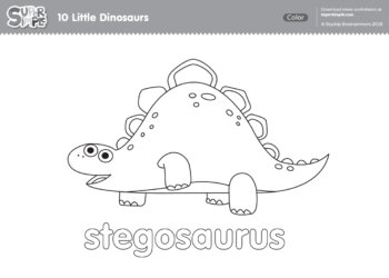 10 Little Dinosaurs Coloring Pages