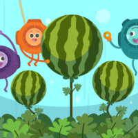 The Bumble Nums Make Underwater Watermelon Salad