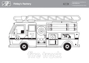 Finley's Factory Coloring Pages