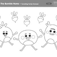 The Bumble Nums Color - Tunneling Turnip Turnover