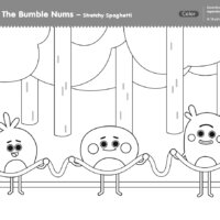 The Bumble Nums Color - Stretchy Spaghetti Surprise