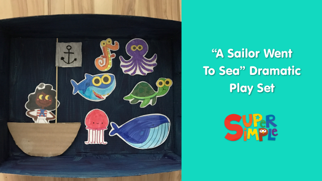 A Sailor Went To Sea Dramatic Play Set