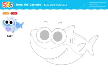 Baby Shark Halloween - Draw the Costume