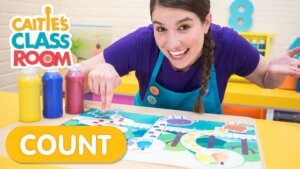 Counting Steps With Fingerpaints & The Bumble Nums!