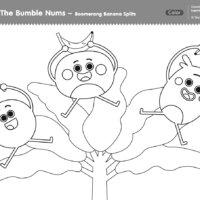 The Bumble Nums Color - Boomerang Banana Splits