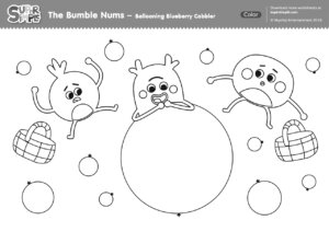 The Bumble Nums Color - Ballooning Blueberry Cobbler