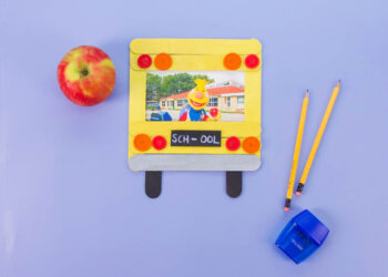 School Bus Photo Frame