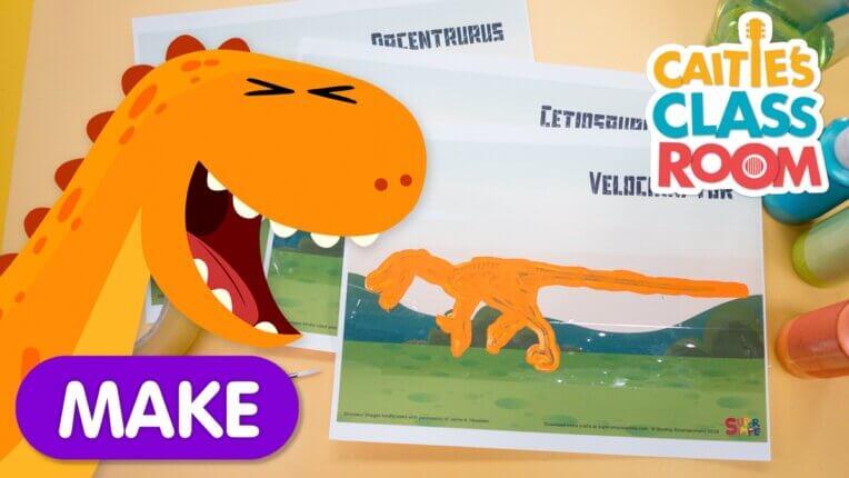Dinosaur Scratch Card