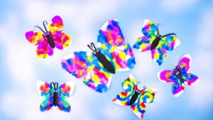 Symmetrical Butterfly Painting