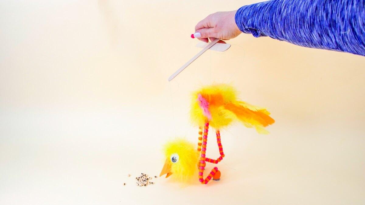 Ostrich Marionette