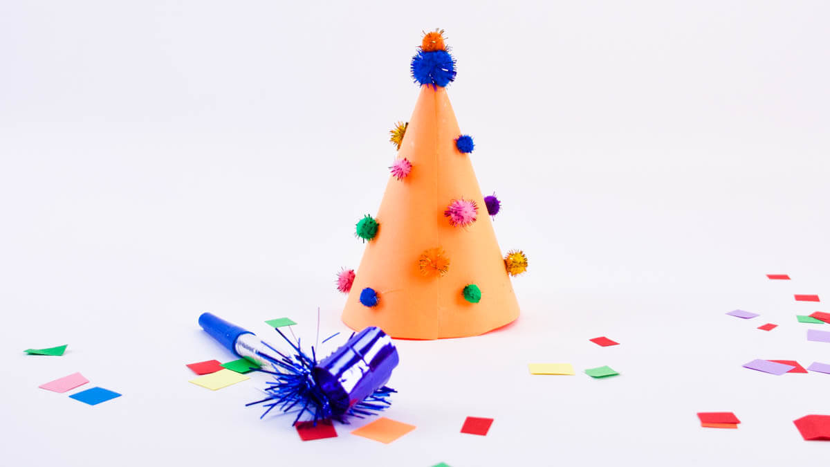 New Year's Eve Party Hat Craft