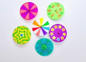 Colorful Dancing Spinners Craft
