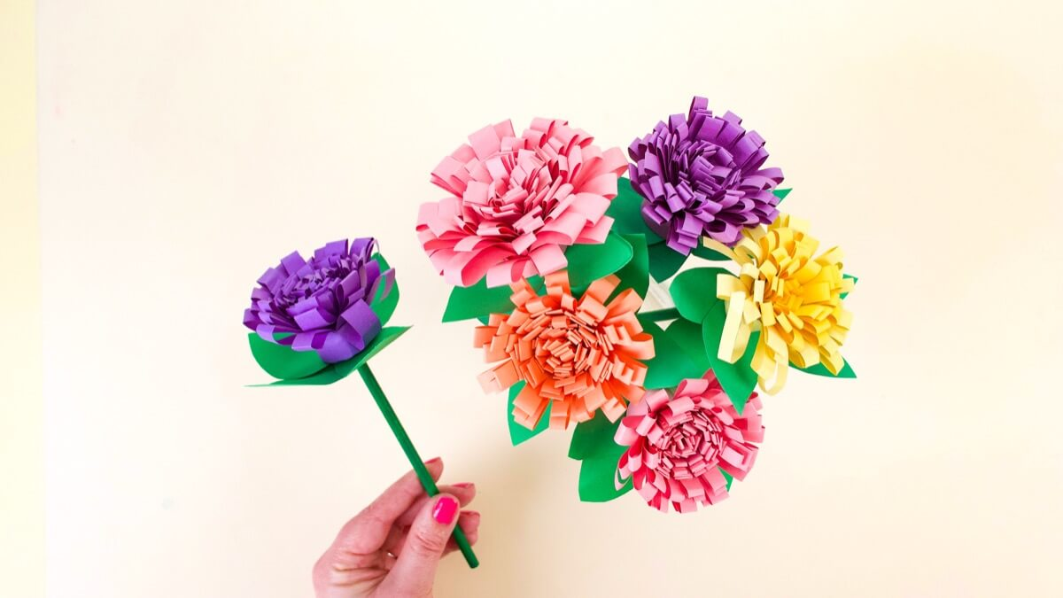 Colorful Carnations Craft