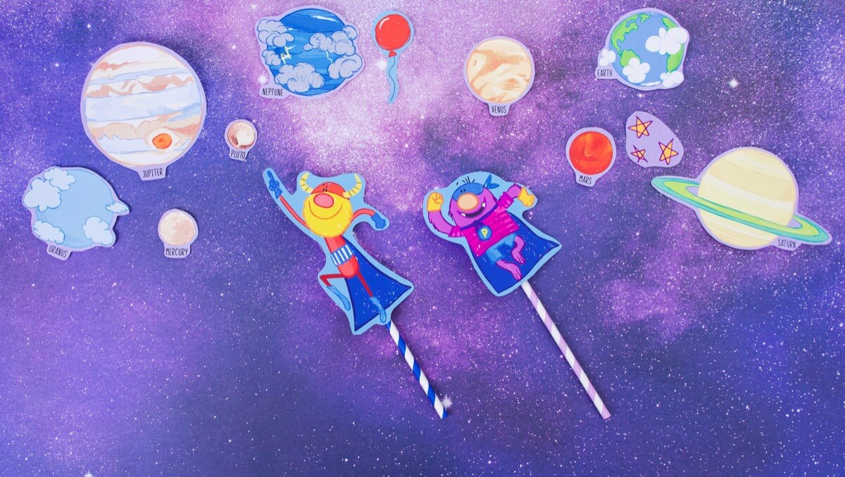 Captain Monsterica & The Purple Protector Straw Rockets