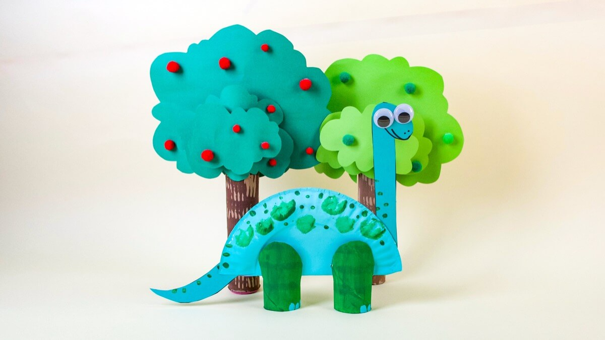 Super Simple Brontosaurus Dinosaur Craft