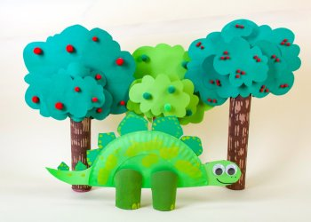 Super Simple Stegosaurus Dinosaur Craft