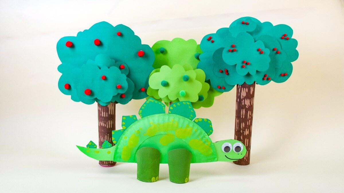 Super Simple Stegosaurus Dinosaur Craft