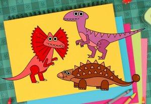 How To Draw A Dilophosaurus, Ankylosaurus, and Velociraptor