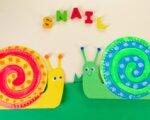 Paper Plate Snail Craft