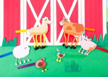 Old MacDonald Had A Farm - Dancing Farm Animals Craft