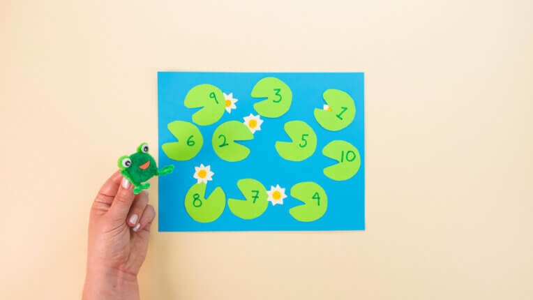 Lily Pads & Leaping Frog Counting Activity