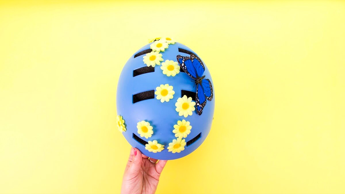Decorate Your Helmet With A Butterfly & Flowers!