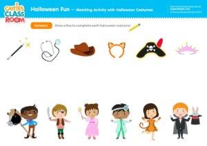 Halloween Fun - Matching Activity with Halloween Costumes