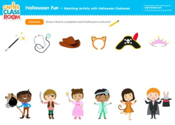 Halloween Fun - Matching Activity with Halloween Costumes