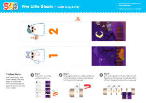 Five Little Ghosts Craft