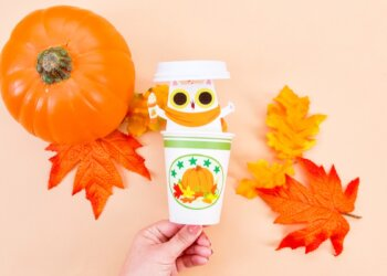 Pumpkin Spice Peekaboo Cat Surprise Craft