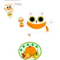 Pumpkin Spice Peekaboo Cat Surprise Craft
