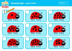 Caitie's Classroom Amazing Bugs - Count & Write
