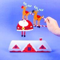 Up On The Housetop - Dancing Santa & Reindeer Play Set