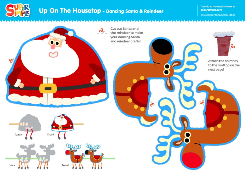 Up On The Housetop - Dancing Santa & Reindeer