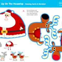 Up On The Housetop - Dancing Santa & Reindeer