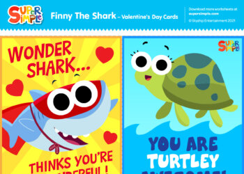Finny The Shark - Valentine's Day Cards