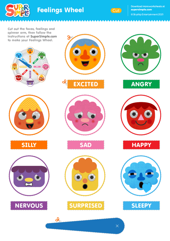 Feelings Wheel Printable